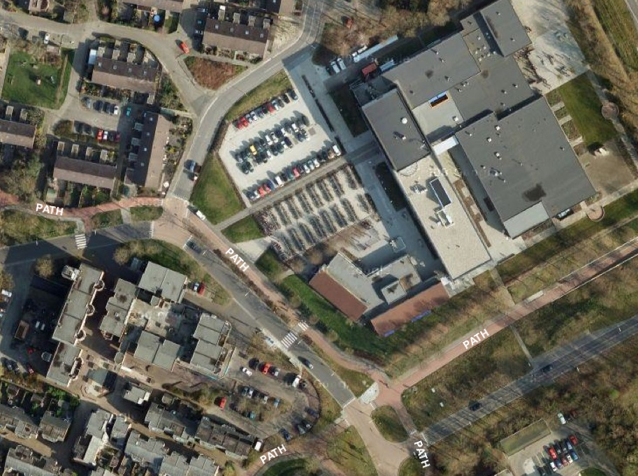 Satellite Image of Vincent Van Gogh High School