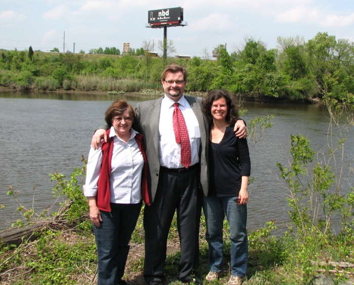 Bobbi Britton (East Coast Greenway Delaware Committee), Jonathan Husband (New Castle County) and Heather Dunigan (WILMAPCO).  Believe it or not, Bobbi, Jonthan and Heather have all been involved with this project for OVER TEN YEARS.