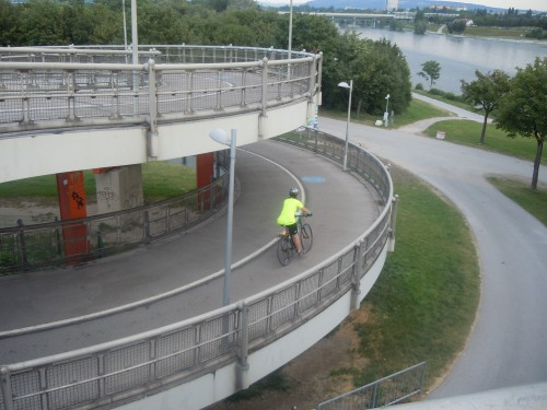Ramp for Bicyclists and Pedestrians to Access a Bridge Across the Danube, in Vienna, Austria (July, 2013)
