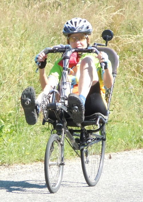 Carol on Bike
