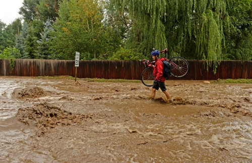 Massive flash flooding in Colorado