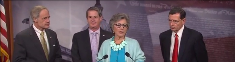 "The ""Big 4"": Senator Tom Carper (Delaware), Senator David Vitter (Louisiana), Senator Barbara Boxer (California) and Senator John Barrasso (Wyoming)"