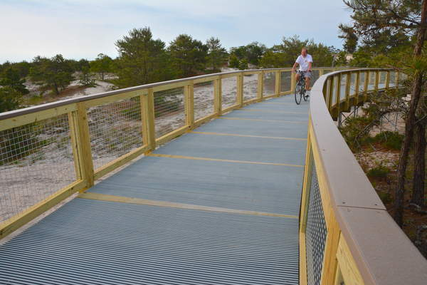 "The new Gordons Pond Trail in Cape Henlopen State Park was officially opened on Wednesday by Governor Markell and DNREC Secretary O'Mara. In addition to offering remarkable views of parts of Cape Henlopen State Park that are often missed by visitors, the trail also complete a 16 mile ""loop"" ride between Lewes and Rehoboth."
