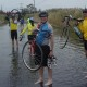 The Tour de Delaware requires determination and perseverance. And if the road is flooded, it doesn't matter if you're the Governor of Delaware: you have to do what it takes.