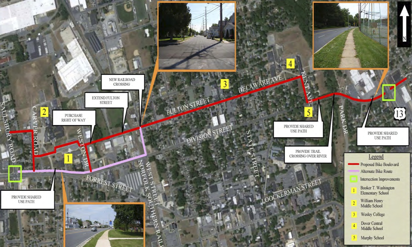 The proposed Senator Bikeway will be an east-west route through Dover.