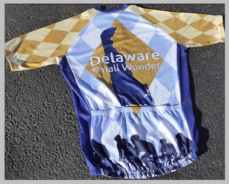 "Support Delaware cycling advocacy with this limited edition ""Small Wonder"" jersey!"
